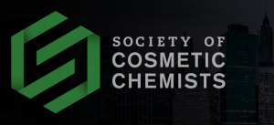 Logo of the Society of Cosmetic Chemists.  Peter M. Elias, M.D., delivers lecture on atopic dermatitis to New York Chapter of the Society of Cosmetic Chemists.