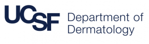 Logo of the UCSF Department of Dermatology where on October 10, 2018, Peter M. Elias, M.D., delivered Grand Rounds on the link between atopic dermatitis and autism.